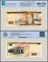 Honduras 100 Lempiras Banknote, 2016, P-New, UNC, TAP 60 - 70 Authenticated
