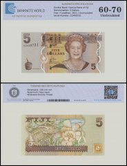 Fiji 5 Dollars Banknote, 2011, P-110b, UNC, TAP 60 - 70 Authenticated