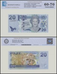 Fiji 20 Dollars Banknote, 2007, P-112a, UNC, TAP Authenticated