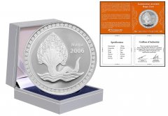 Cambodia 1 Sleung 20g Silver Proof Coin, 2006, Mint, Ancient Naga