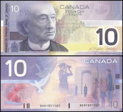 Canada 10 Dollars Banknote, 2003, P-102d, UNC