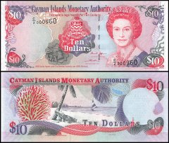 Cayman Islands 10 Dollars Banknote, 2005, P-35a, UNC, Low Serial #