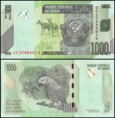 Congo Democratic Republic 1,000 Francs Banknote, 2013, P-101b, UNC