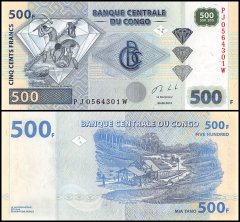Congo Democratic Republic 500 Francs Banknote, 2013, P-96d, UNC