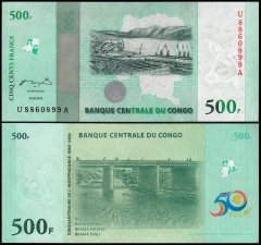 Congo, Democratic Republic 500 Francs Banknote, 2010, P-100, UNC