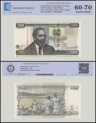 Kenya 200 Shillings Banknote, 2010, P-49e, UNC, TAP 60 - 70 Authenticated