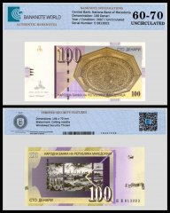 Macedonia 100 Denari Banknote, 2007, P-16g, UNC, TAP 60 - 70 Authenticated