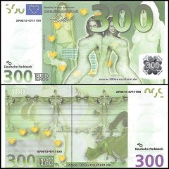 Europe 300 Euro Sex Novelty / Fantasy Banknote, UNC