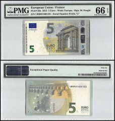 European Union - France 5 Euros, 2013, P-20u, Prefix UB, PMG 66
