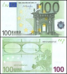 European Union - Spain 100 Euro Banknote, 2002, P-NEW, Prefix -V, UNC