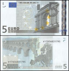 European Union - Spain 5 Euros Banknote, 2002, P-8v, UNC