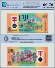 Fiji 50 Dollars Banknote, 2020, P-NEW, Specimen, UNC, TAP 60 - 70 Authenticated