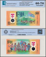 Fiji 50 Dollars Banknote, 2020, P-NEW, UNC, TAP Authenticated