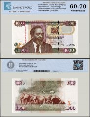 Kenya 1,000 Shillings Banknote, 2010, P-51e, UNC, TAP 60 - 70 Authenticated