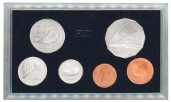 Fiji 1 Cent - 50 Cents 6 Pieces Coin Set, 1992, KM #39-36, In Acrylic Holder, Mint