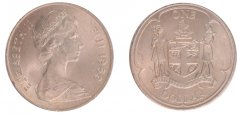 Fiji 1 Dollar 28.4 g Copper Nickel Coin, 1969, KM #32, Mint