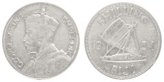 Fiji 1 Shilling 5.6 g Silver Coin, 1934, KM #4, MS - Mint