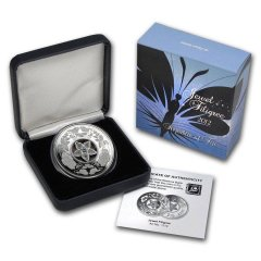 Fiji 10 Dollars 0.59 Troy oz. Silver Coin, 2012, KM # 199, Mint, Jewel Filigree