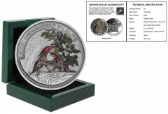 Fiji 10 Dollars, 2oz Silver Coin, 2014, Mint, Exotic Endangered Wildlife, Stagbeetle