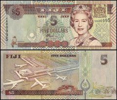 FIJI 10 DOLLARS 1992 P 94 HEAVY USED// CIRCULATED