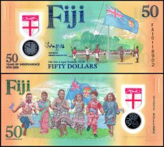 Fiji 50 Dollars Banknote, 2020, P-NEW, Polymer, UNC