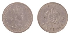Fiji 6 Pence 2.82 g Silver Coin, 1958, KM #19, MS - Mint