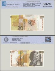 Slovenia 20 Tolarjav Banknote, 1992, P-12a, UNC, TAP 60 - 70 Authenticated