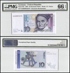 Germany 10 Deutsche Mark, 1993, P-38c, PMG 66