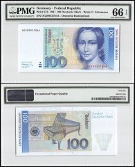 Germany 100 Deutsche Mark, 1991, P-41b, PMG 66