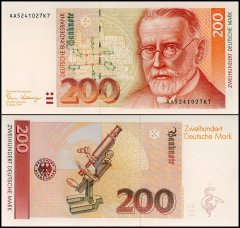 Germany 200 Deutsche Mark Banknote, 1989, P-42, Series-AA, UNC