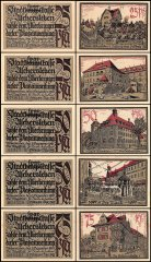Germany 25 - 75 Pfennig Notgeld 5 Piece Set, 1921, UNC
