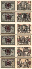 Germany 25 Pfennig Notgeld 6 Piece Set, 1921, UNC