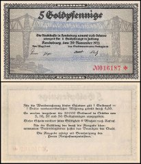 Germany 5 Goldpfennig Banknote, 1923, UNC