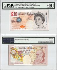 Great Britain 10 Pounds, 2000 - ND 2015, P-389e, Queen Elizabeth II, PMG 68