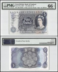 Great Britain 5 Pounds, ND 1962-66, P-375a, Queen Elizabeth II, PMG 66
