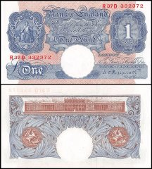 Great Britain England 1 Pound Banknote, 1940, P-367a, UNC