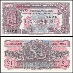 Great Britain Military 1 Pound Banknote, ND 1948, P-M22, UNC, 2nd Series