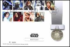 "Great Britain Star Wars ""Battles"" Medal Cover Collectible Set, 28.28 g CuNi,2015"