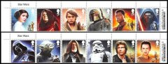 Great Britain Star Wars The Force Awakens Character Collectible 1st Class Stamp