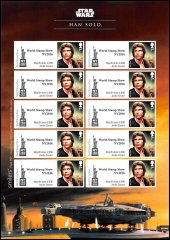 Great Britain Star Wars World Show New York Character Stamps, 2016, UNC,Han Solo