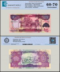 Somaliland 1,000 Shillings Banknote, 2015, P-20d, UNC, TAP Authenticated