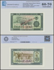 Albania 10 Leke Banknote, 1976, P-43s2, UNC, Specimen, TAP 60-70 Authenticated