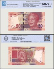South Africa 50 Rands Banknote, 2015, P-140b, UNC, TAP 60-70 Authenticated
