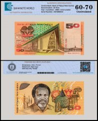 Papua New Guinea 50 Kina Banknote, 1989, P-11, UNC, TAP 60-70 Authenticated