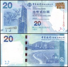Hong Kong 20 Dollars Banknote, 2013, P-341c, Bank of China, UNC