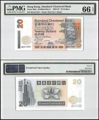 Hong Kong 20 Dollars, 1994-97, P-285b, Standard Chartered Bank, PMG 66