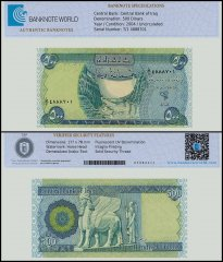 Iraq 500 Dinars Banknote, 2004, P-92, UNC, TAP Authenticated