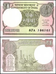 India 1 Rupee Banknote, 2016 - 2017, P-108a, UNC