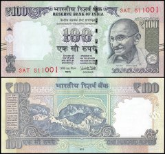 India 100 Rupees Banknote, 2016, P-105ag, UNC