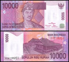 Indonesia 10,000 Rupiah Banknote, 2005, P-143a, UNC